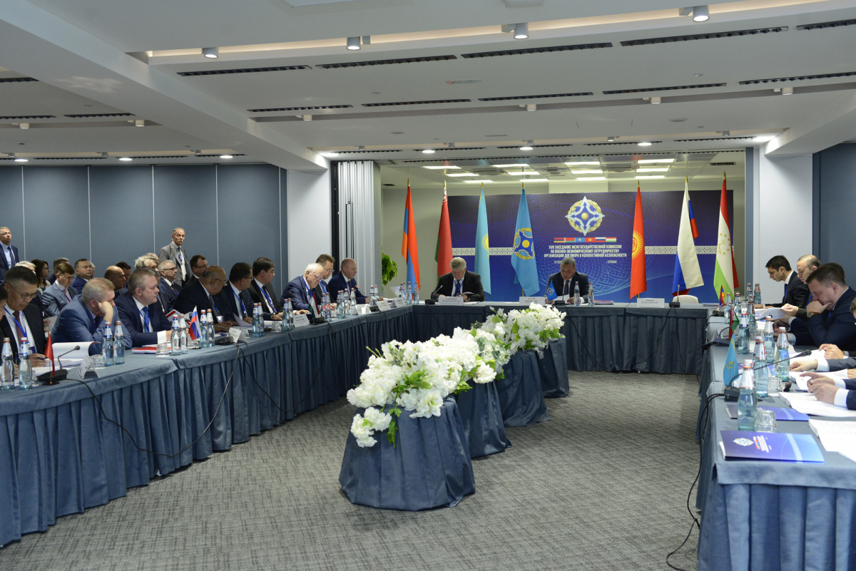 Заместитель Председателя Правительства Российской Федерации Ю.Борисов провел в Ереване ХVII заседание Межгосударственной комиссии по военно-экономическому сотрудничеству ОДКБ